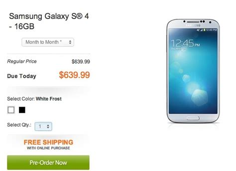 samsung galaxy   contract price revealed