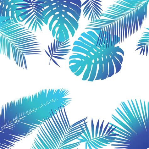 Tropical Pattern Png | blue tropical leaves background transparent png svg vector