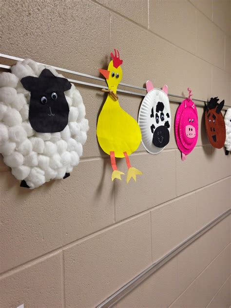 farm animal crafts for simple farm animal crafts 1st grade farm
