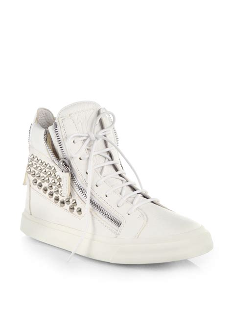giuseppe sneakers giuseppe zanotti lindos doublezip studded hightop sneakers
