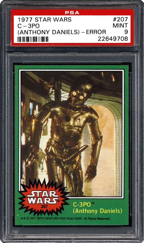 anthony daniels facts 1977 star wars c 3po anthony daniels psa cardfacts
