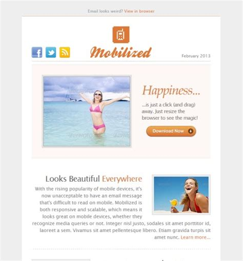 newsletter email templates 40 best html email newsletter templates