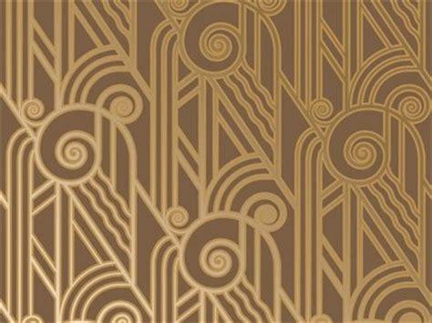 V25 Wallpaper Sticker Motif Vintage Blue Gold 1920s decor deco style