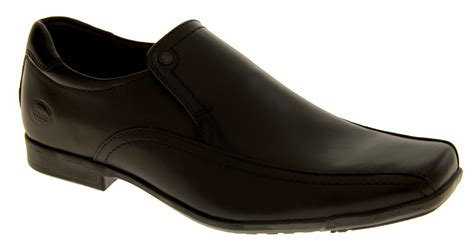 Mens Dress Shoe Size 7 by Mens Black Leather Base Work Loafers Dress Shoe Formal Shoes Size 6 7 Ebay