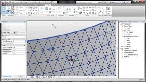 grid like pattern on skin revit pattern based curtain walls youtube