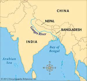 map rivers river map ganga