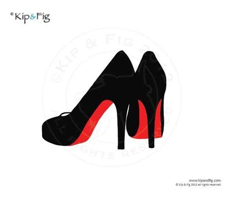 Christian Louboutin Logo Stencil louboutin shoes applique templ by kipandfig craftsy
