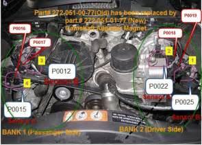 2008 ml350 p0019 crankshaft position camshaft position