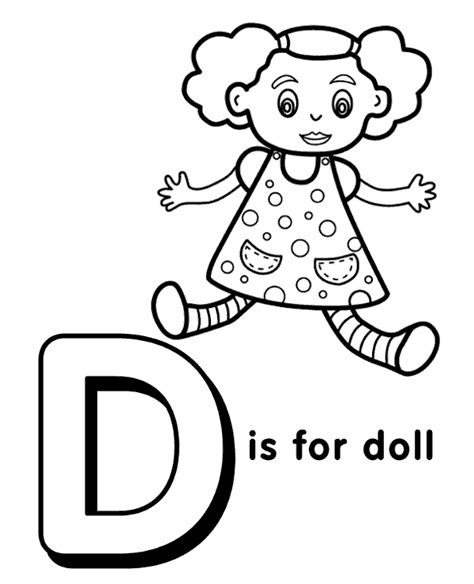 letter d to print and color for free