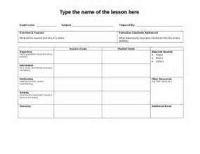 Lesson Plan Word Template by Lesson Plan Template Word Hashdoc