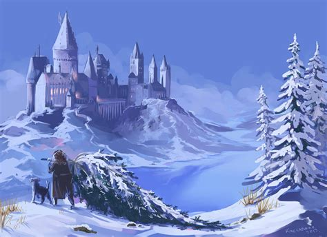 All Comments On Harry Potter Owned A Snow Owl This Is A - winter hogwarts by kissyushka on deviantart