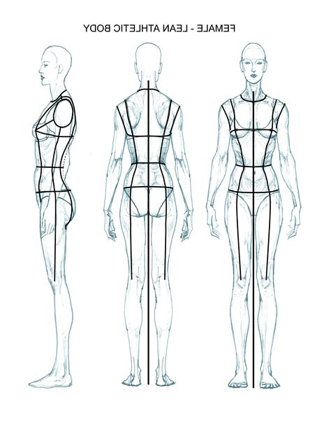 fashion sketch templates front and back www imgkid com