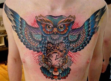 owl tattoo piece owl chest piece owl tattoos pinterest