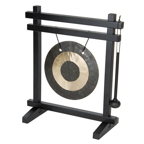Black And Wood by Desk Gong Woodstock Chimes