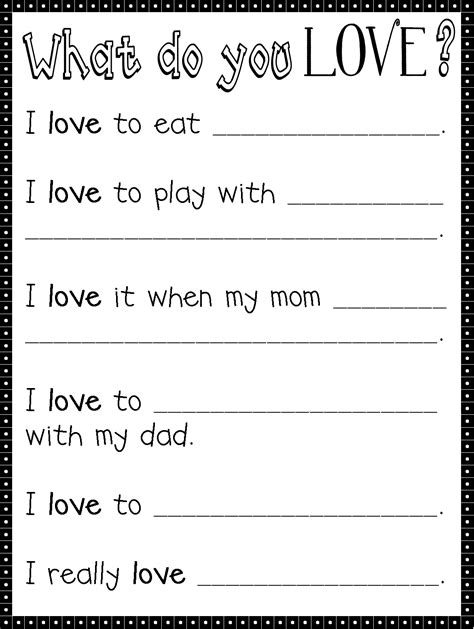 valentines writing activities since s day is all about here s a