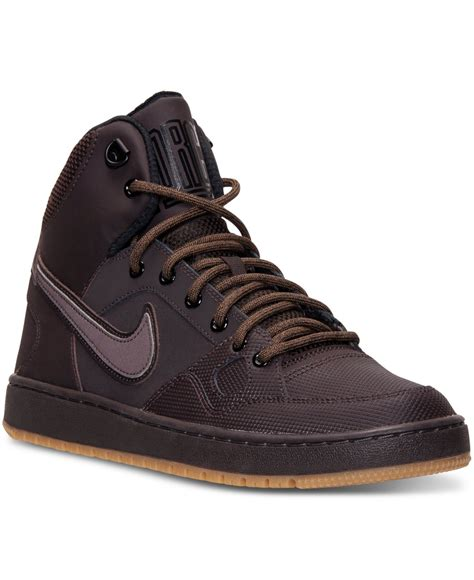 nike mens sneaker boots lyst nike s of mid winter casual sneakers