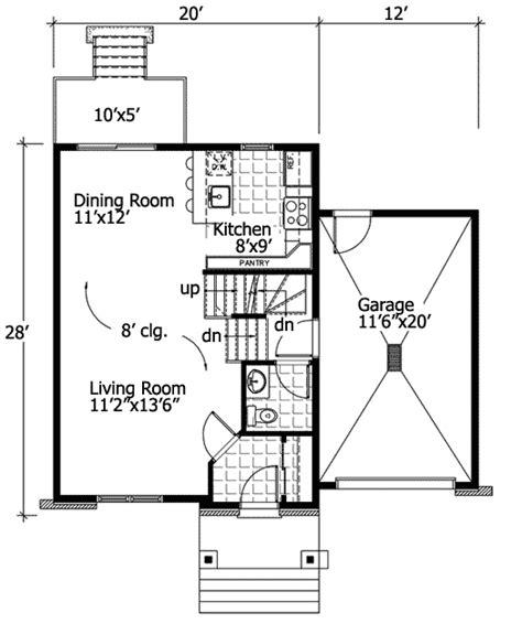 floorplan main line mini flexible mini modern 90172pd architectural designs