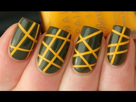 nail art tape strips tutorial striping tape nail art tutorial youtube