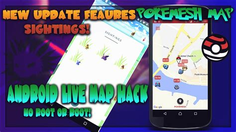 pokemon  map hack android  root  update feature