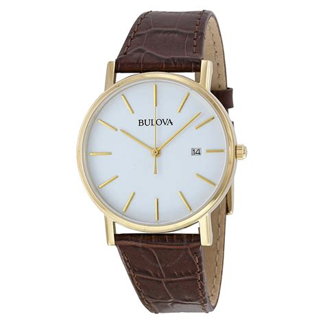 bulova white gold tone stainless steel s