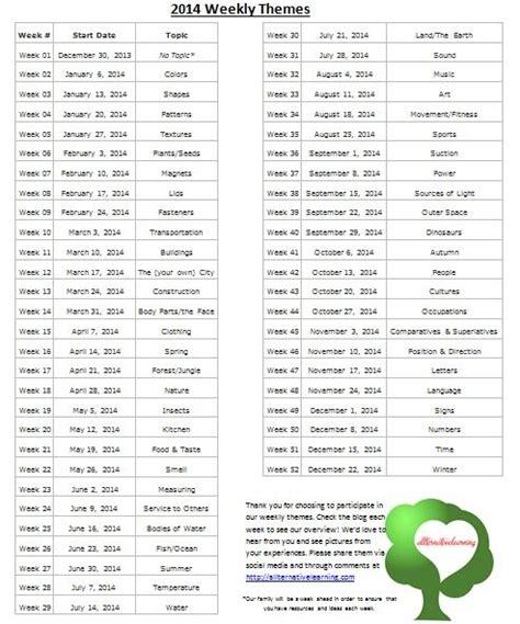 theme list download preschool education theme list download lengkap