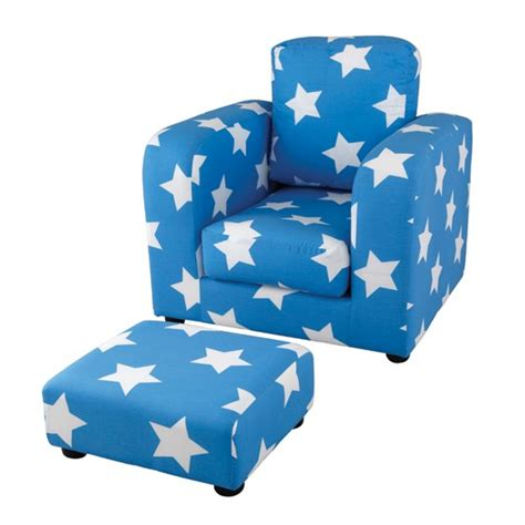 children s armchair star pattern armchair and footstool from aspace children