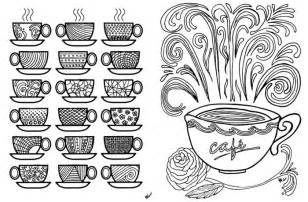 Free Printable Coloring Pages for Adults: Coffee Cups!   Moms and Crafters