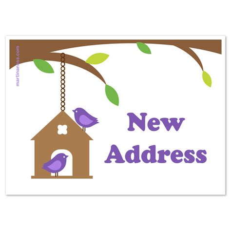 address card template free new address birdie card invitations cards on pingg
