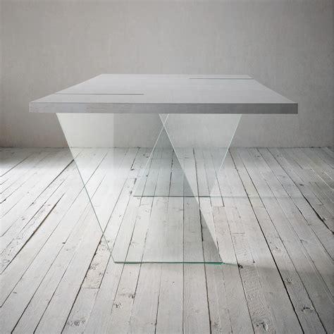 tavolo con vetro alceo tavolo fisso di design 160x90 cm con gambe in
