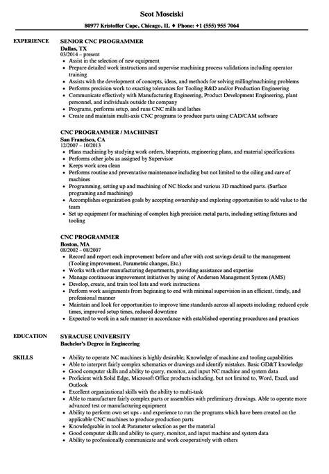 sle resume cnc programmer contemporary resume