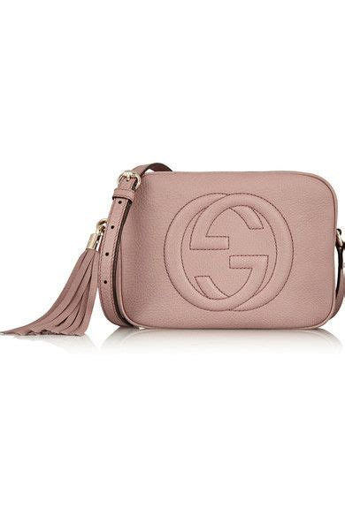 Handbags Wallets C 1 21 by Gucci Soho Disco Blush Textured Leather Cow Zip