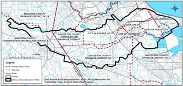 dickinson map maps and photos dickinson bayou watershed partnership