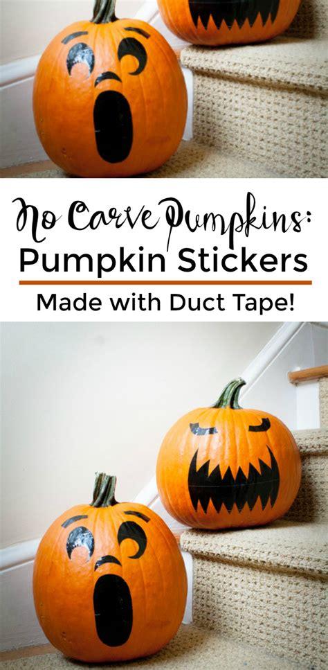 10 Easy No Carve Pumpkin No Carve Pumpkins Pumpkin Stickers A Grande