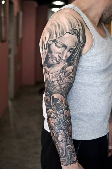 sleeve tattoo designs for men black and grey 25 best ideas about religious sleeves on