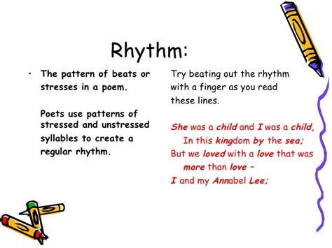 pattern rhythm definition elements of poetry