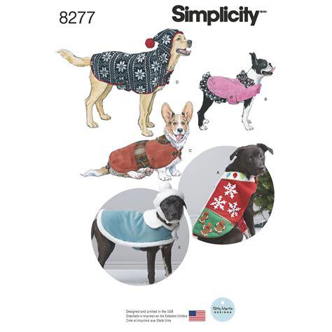 pattern for dog coat fleece simplicity 8277 simplicity pattern 8277 fleece dog coats