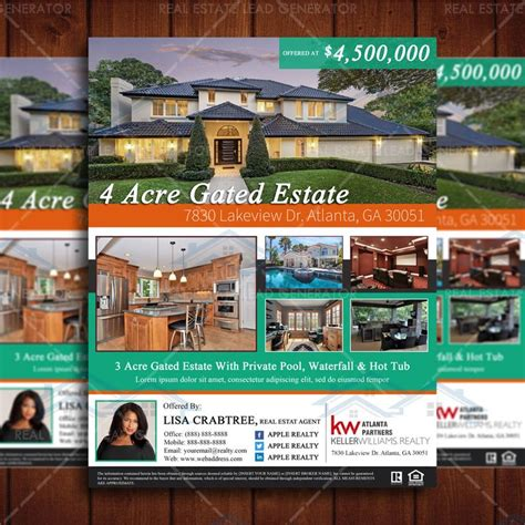 real estate property listing template 14 best images about real estate flyers on