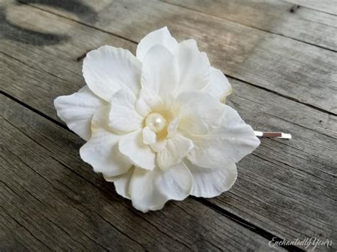 Wedding Hair Flowers Small by Small Bridal Ivory Flower Hair Clip Wedding Floral
