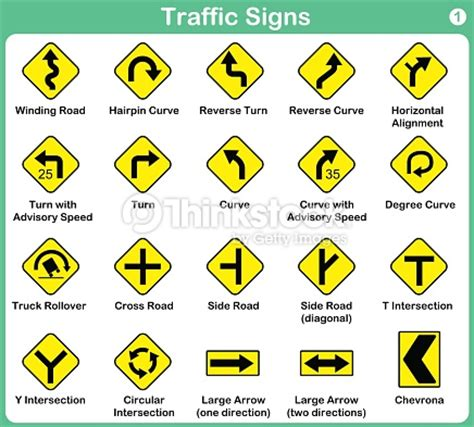 Jqk Turn Left Black M4208b traffic sign collection warning road signs vector