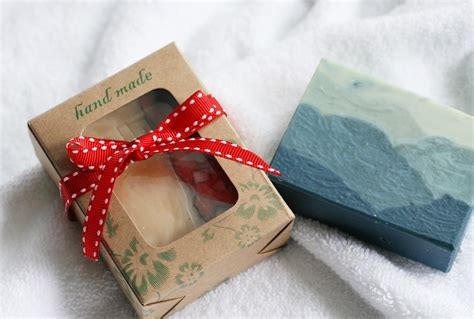 Handmade Soap Gift - kraft paper drawer gift box 1 soap one leaf soap