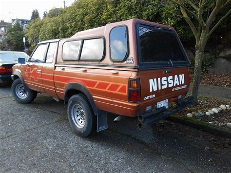 nissan pickup 4x4 seattle s parked cars 1984 nissan datsun 4x4 pickup