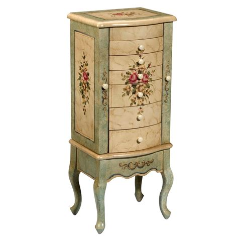jewelry mirrored armoire furniture antique wooden mirrored jewelry armoire for