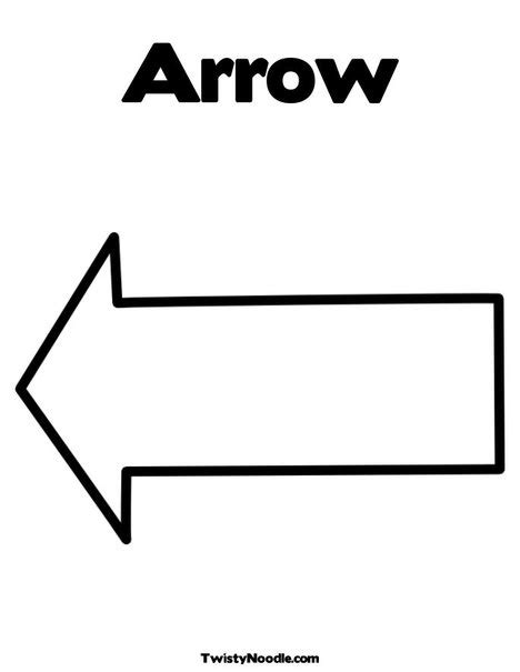 pin printable arrow template image search results on pinterest