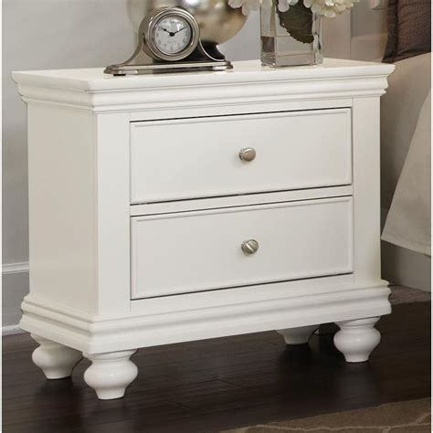 White Nightstands Essex White Nightstand
