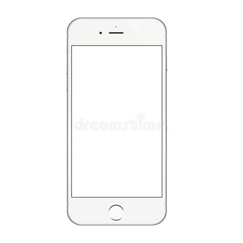 iphone layout vector realistic white iphone 6 blank screen vector design