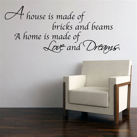 and dreams home wall stickers by parkins interiors