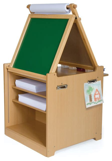 Desk To Easel Cart by Desk To Easel Cart Traditional Toys And