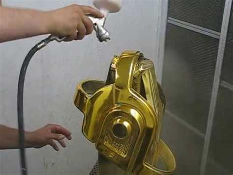Sprei Brown Titanium No 1 Fata coverchrome gold helmet daft spray on chrome