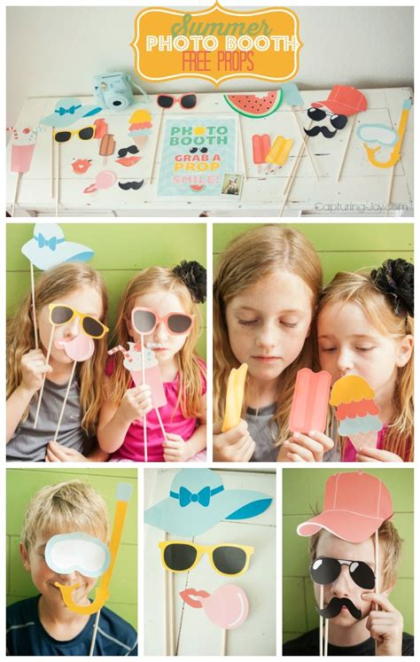 printable photo booth props summer summer photo booth props free printables