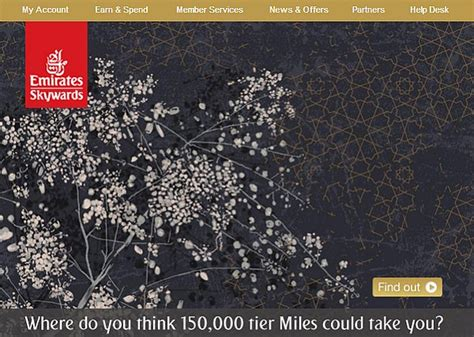 emirates miles redeem emirates skywards partner earning and redemptionthe